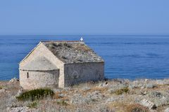 Old church by the sea royalty free stock photos