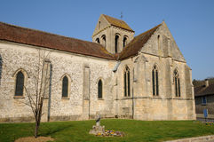 The old church of Seraincourt in Ile de France Stock Images