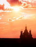 Old church silhouette Royalty Free Stock Images