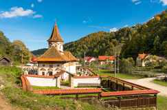 Old church in Simon vilage,Ban-Moeciu, Romania Stock Image