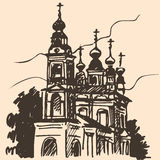 Old church sketch royalty free illustration