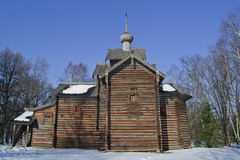 Old Church Slavonic wooden church Royalty Free Stock Photo