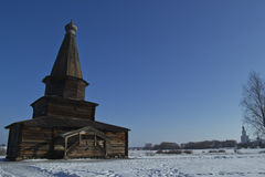 Old Church Slavonic wooden house Stock Image
