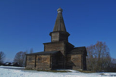 Old Church Slavonic wooden house Royalty Free Stock Photo