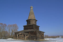 Old Church Slavonic wooden house Stock Images