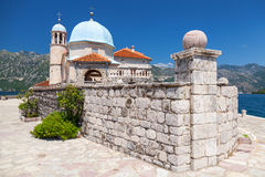 Old church on small island in Bay of Kotor Stock Photography