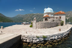 Old church on small island in Bay of Kotor Royalty Free Stock Images