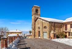 Old church in small town. Stock Photo