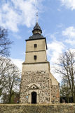Old church in the small village. Of Benz in Usedom Stock Photos