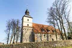 Old church in the small village. Of Benz in Usedom Stock Photography