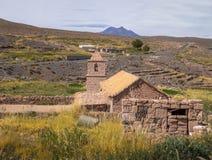 Old Church of Socaire Village - Atacama Desert, Chile Royalty Free Stock Image