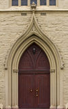 Old church solid wood door Stock Images