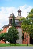 Old church in Spanish park in Park Citadel in Barcelona Royalty Free Stock Photos