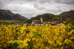 Old church in Spitz, Austria. Royalty Free Stock Image