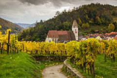 Old church in Spitz, Austria. Old church in Spitz, Wachau, Austria Royalty Free Stock Images