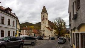 Old church in Spitz, Austria. Royalty Free Stock Photo