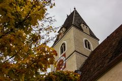 Old church in Spitz, Austria. Royalty Free Stock Photography
