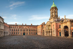 Old Church Square. Monument and church in Dublin square, Ireland Stock Photography