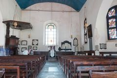 A old church in Sri Lanka. This is inside a old church in the place Gall in Sri Lanka. It is build during the VOC time Stock Photo