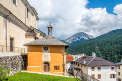 Old church St. Antonio Abate of Candide Stock Image