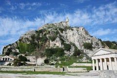 Island of Corfu. The old church of `St. George` on the Island of Corfu Royalty Free Stock Photos