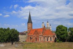 Old Church St. George in Kaunas. Lithuania stock photography