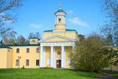 The old church of St. Mary Magdalene. Pavlovsk, surroundings of St. Petersburg. The old church of St. Mary Magdalene, sunny afternoon. Pavlovsk, surroundings of royalty free stock photography
