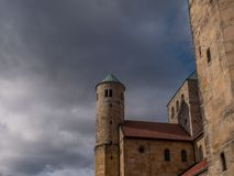 The old Church of St. Michael in  city Hildesheim, Germany Royalty Free Stock Image