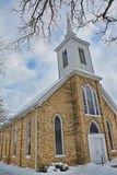 Old Church with Steeple Royalty Free Stock Photo