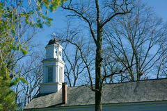 Old church steeple Allaire Village New Jersey Royalty Free Stock Image