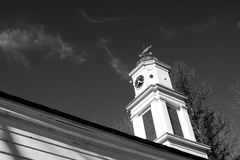 Old church steeple Allaire Park New Jersey Royalty Free Stock Images