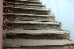 Old church steps Stock Photo