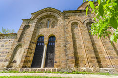 Old church stone walls, Macedonia Stock Photo