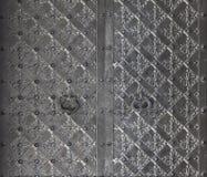 Old church textured metal door Stock Images