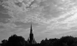 Old Church in Torun, Poland, Toruń, Polska, Saint Catherine of Alexandria. Old Church in Toruń, Poland, Saint Catherine of Alexandria, with dramatic sunset Stock Photos