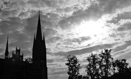 Old Church in Torun, Poland, Toruń, Polska, Saint Catherine of Alexandria. Old Church in Toruń, Poland, Saint Catherine of Alexandria, with dramatic sunset Stock Photo