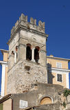 Old church tower Corfu town Stock Images