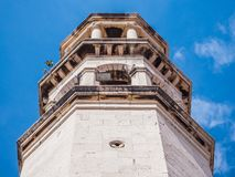 Old church tower at Croatia Royalty Free Stock Photography
