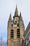 The old church tower in Delft. Royalty Free Stock Image
