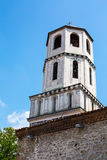 Old church tower in Plovdiv city, Bulgaria. Old church bell tower in the old city of  Plovdiv, Bulgaria Royalty Free Stock Image