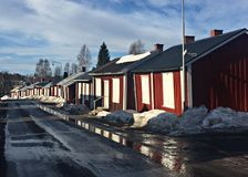 Old Church Town in Gammelstad Sweden Royalty Free Stock Image
