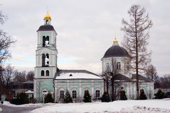 Old church in Tsaritsyno park in Moscow Royalty Free Stock Image