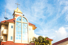 Old church under a blue sky. Royalty Free Stock Photography