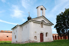 Old church in Velikiy Novgorod. Velikiy Novgorod is one of the oldest and most beautiful cities in Russia stock image