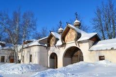 Old church in Veliky Novgorod. Stock Photo