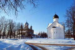 Old church in Veliky Novgorod. Royalty Free Stock Photography