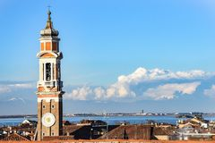Church tower in Venice royalty free stock images