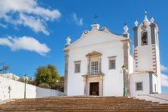 The old church of the village Estoi. Faro. Stock Photo