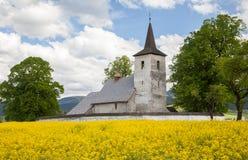 Old church at village Ludrova, Slovakia Royalty Free Stock Photo