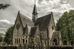 Church in village Luss, Scotland royalty free stock photo